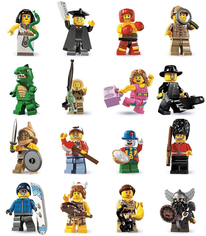 LEGO® 8805 Minifiguren Serie 5 - Komplettsatz + 16 BA