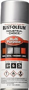 Rust-Oleum 1614830 1600 System Multi-Purpose Enamel Spray Paint, 12-Ounce, Dull Aluminum