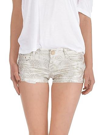 fb517396a3b2 Fraternel Damen Hose glitzer Hotpants Shorts  Amazon.de  Bekleidung