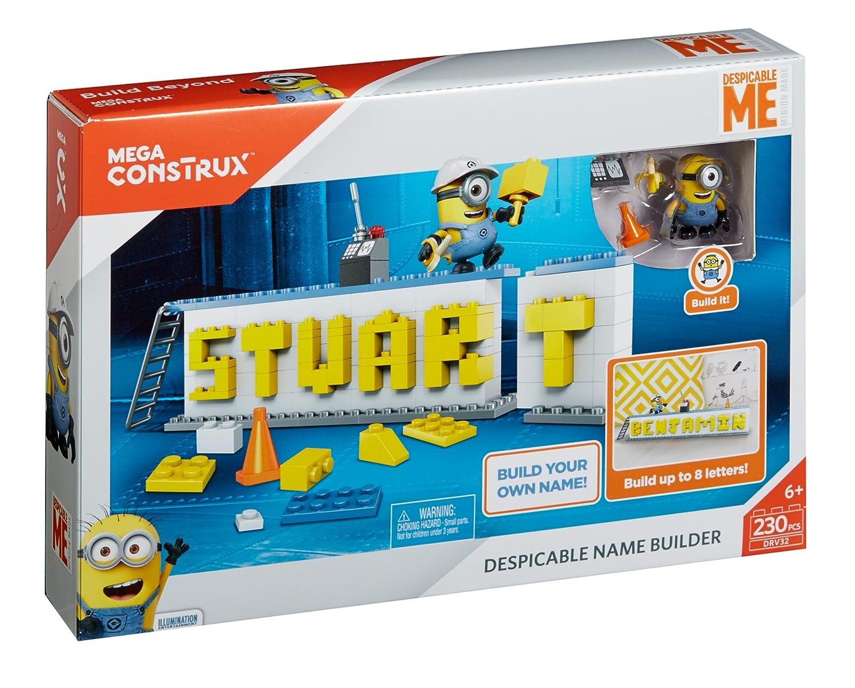 Amazon.com: Mega Construx Despicable Me Name Builder Set: Toys & Games