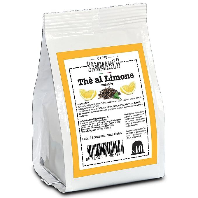 2 opinioni per Caffè Sammarco 10 capsule compatibili Nespresso® diTè al limone solubile