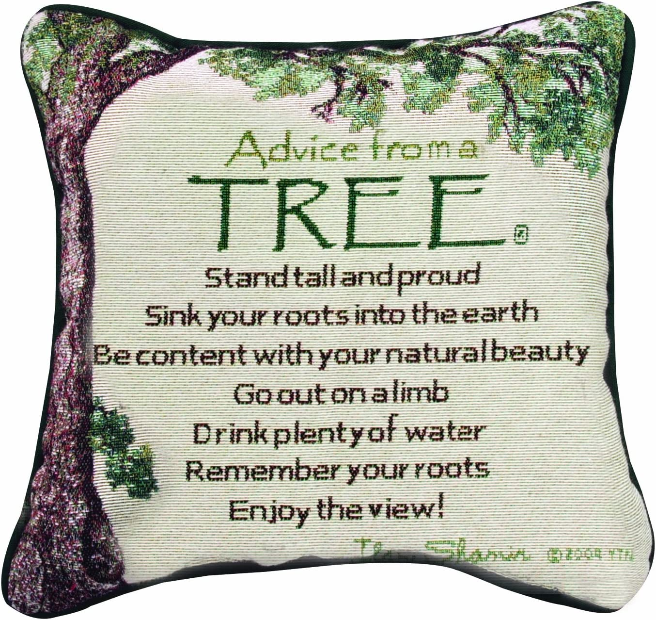 Manual The Lodge Collection Reversible Throw Pillow, 12.5 X 12.5-Inch, Advice from a Tree X Your True Nature