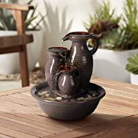 John Timberland Triple Jug Zen Indoor Table-Top Water Fountain 9