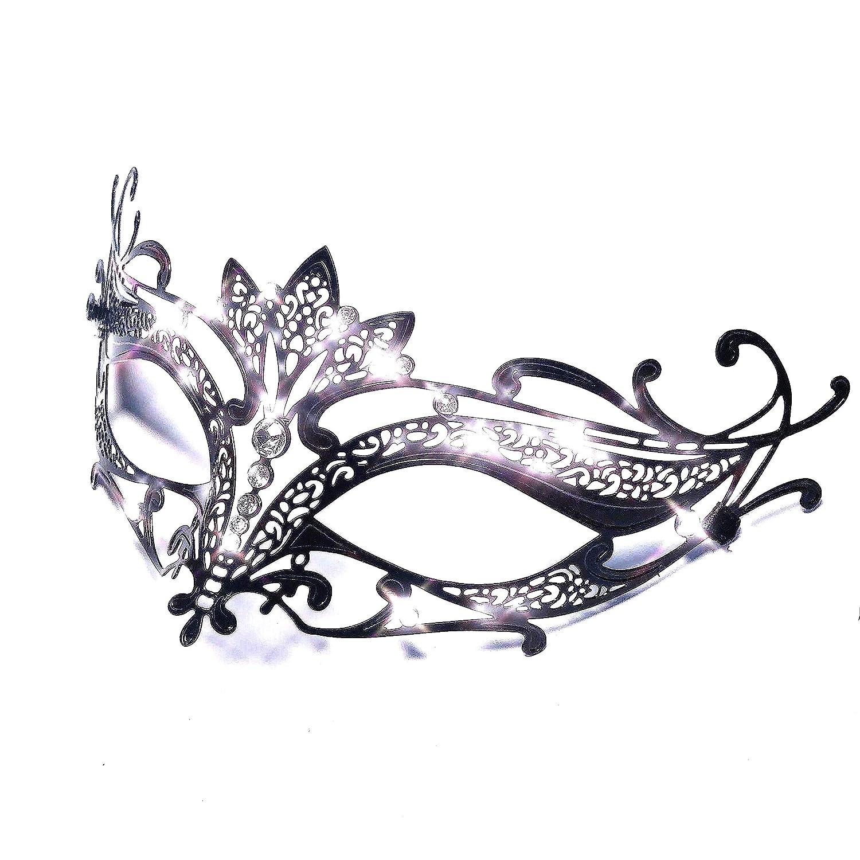 Storm Buy Lady//Women//Girls Luxury Shiny Rhinestone Venetian Masquerade Mask Halloween Cosplay Prom Ball Party