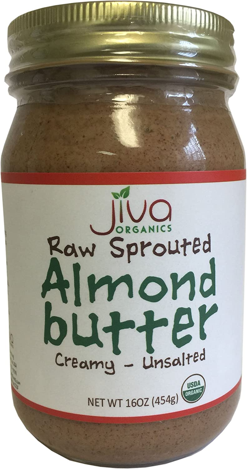 Jiva Organics Almond Butter, Brown, 16 Ounce