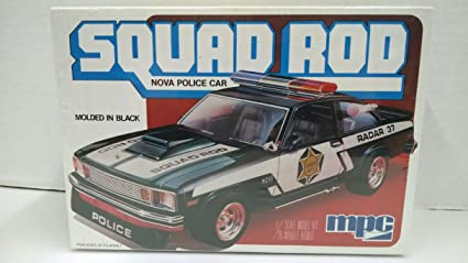 Amazon com: MPC 1-0744 Squad Rod 1979 Nova Police Car 1:25