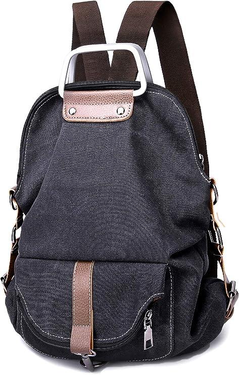Unisex Backpack School Shoulder Bag Canvas Handbag Student Rucksack Satchel Tote