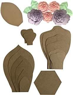 Amazon martha stewart crafts vintage girl tissue paper flowers two pack rose peony paper flower template kit free leaf template paper mightylinksfo
