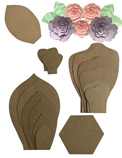 Amazon two pack rose peony paper flower template kit free two pack rose peony paper flower template kit free leaf template paper mightylinksfo
