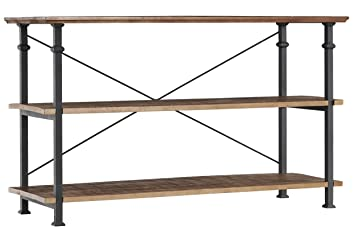 High Quality Homelegance Factory Modern Industrial Style Sofa Table, Rustic Brown