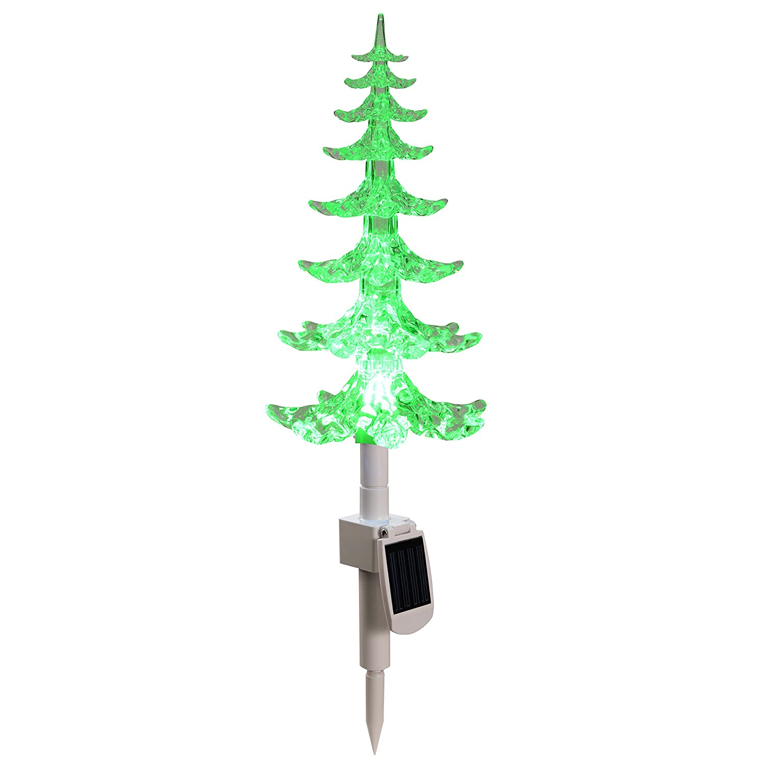WeRChristmas 47 cm Solar Powered Christmas Tree with Colour Changing Light Decoration