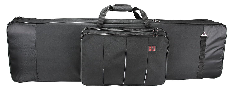 Kaces XKP-11KB Valise de transport souple à roulettes pour Clavier 76 notes