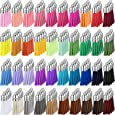 200 Pieces Keychain Tassels Leather Keychain Tassel Pendants Bulk  Faux Suede Tassel with Caps for DIY Acrylic Keychain Blanks Keychain Key Rings Craft Supplies, 40 Colors