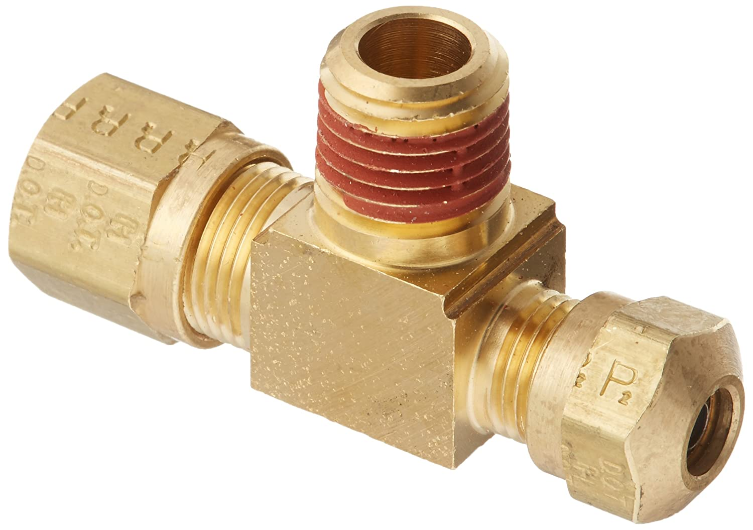Parker Hannifin VS272NTA-8-6 Brass Air Brake-NTA Male Branch Tee Fitting 1//2 Compression Tube x 3//8 Male Thread