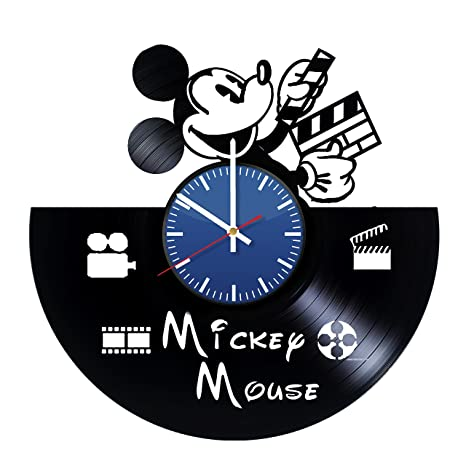 Amazoncom Page Mickey Mouse Cartoon Character Vinyl Wall Clock