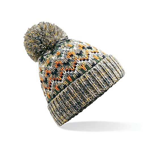 6121582d0624d Beechfield Unisex Adults Blizzard Winter Bobble Hat (One Size) (forager  Fusion)