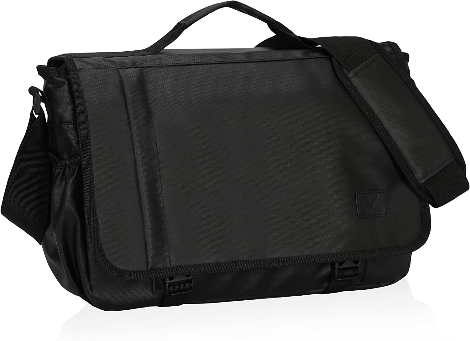 Hynes Eagle Laptop Messenger Bag 15.6 inch Commute Shoulder Bag for Men & Women Black