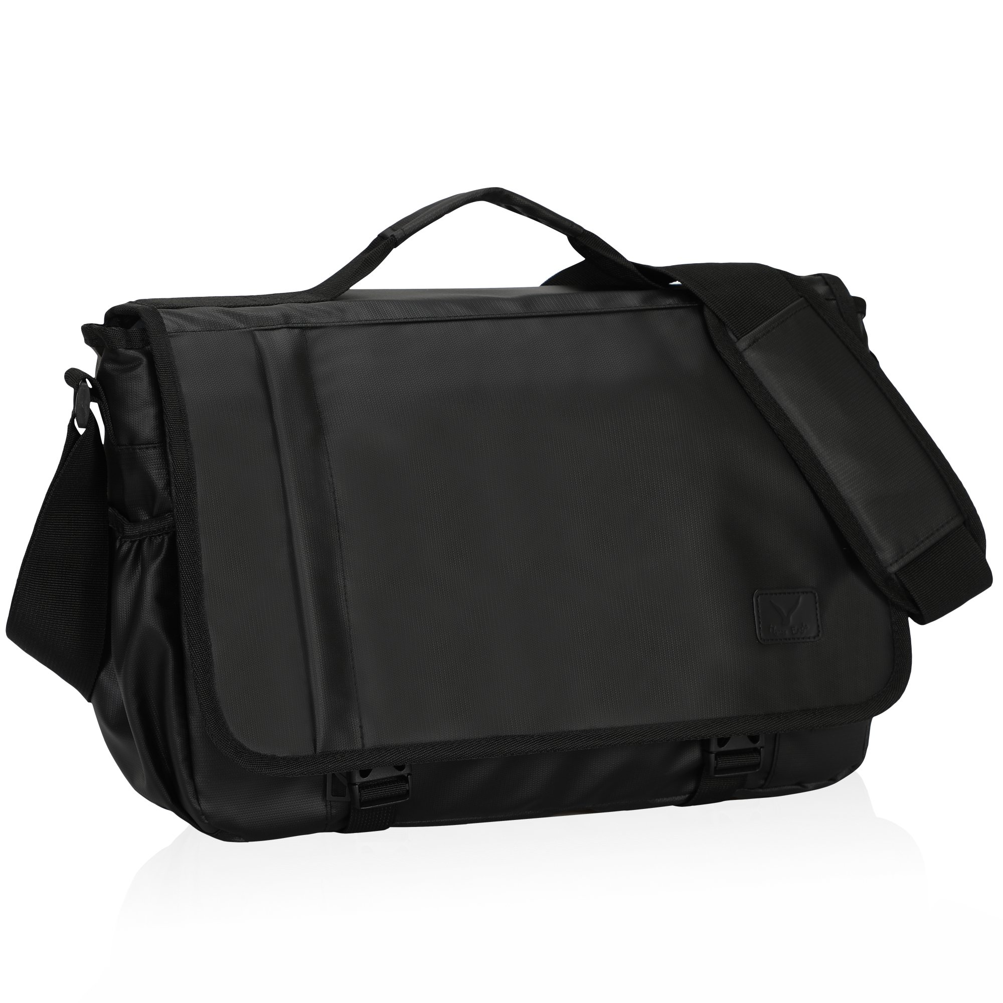 Hynes Eagle Laptop Messenger Bag for 15.6 inch with Top Handle Black
