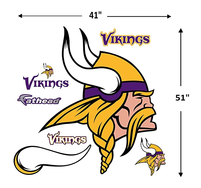 29556303 Fathead NFL Minnesota Vikings Minnesota Vikings: Logo - Giant Officially  Licensed NFL Removable Wall Decal - 14-14256