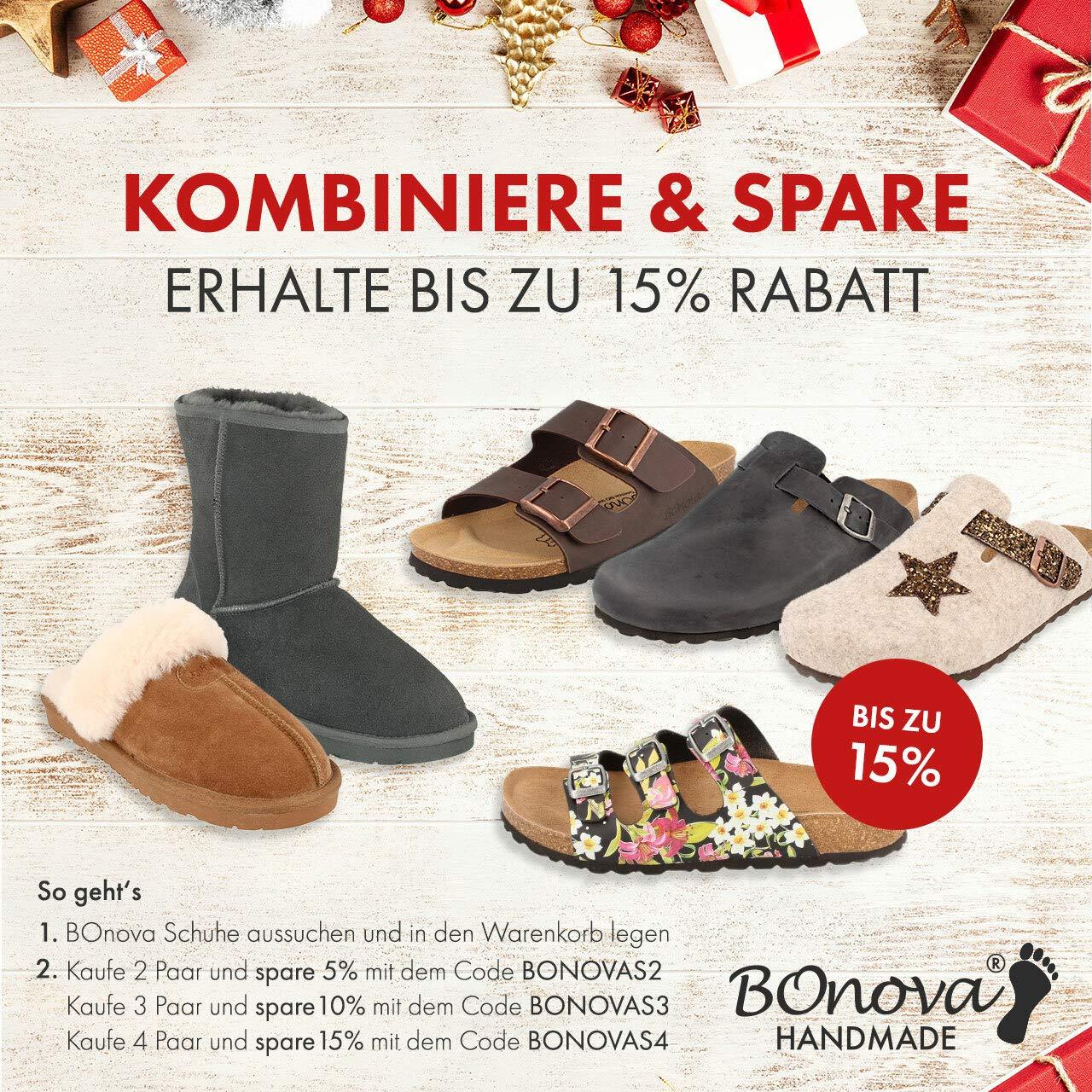 BOnova Damen Pantolette Menorca in 7 Farben, Hausschuhe handgefertigt in der EU, Sommer Sandalen mit DREI verstellbaren Riemen und Kork Fußbett
