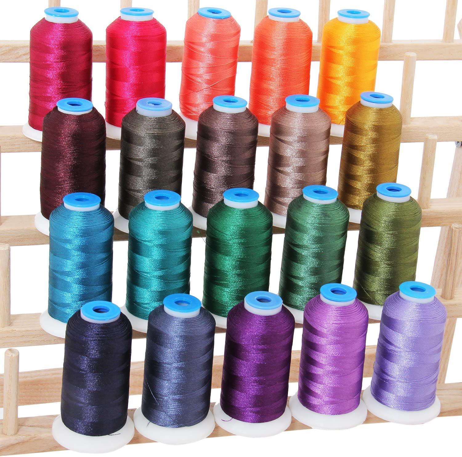 Renewed 40 Spools Polyester Embroidery Machine Thread