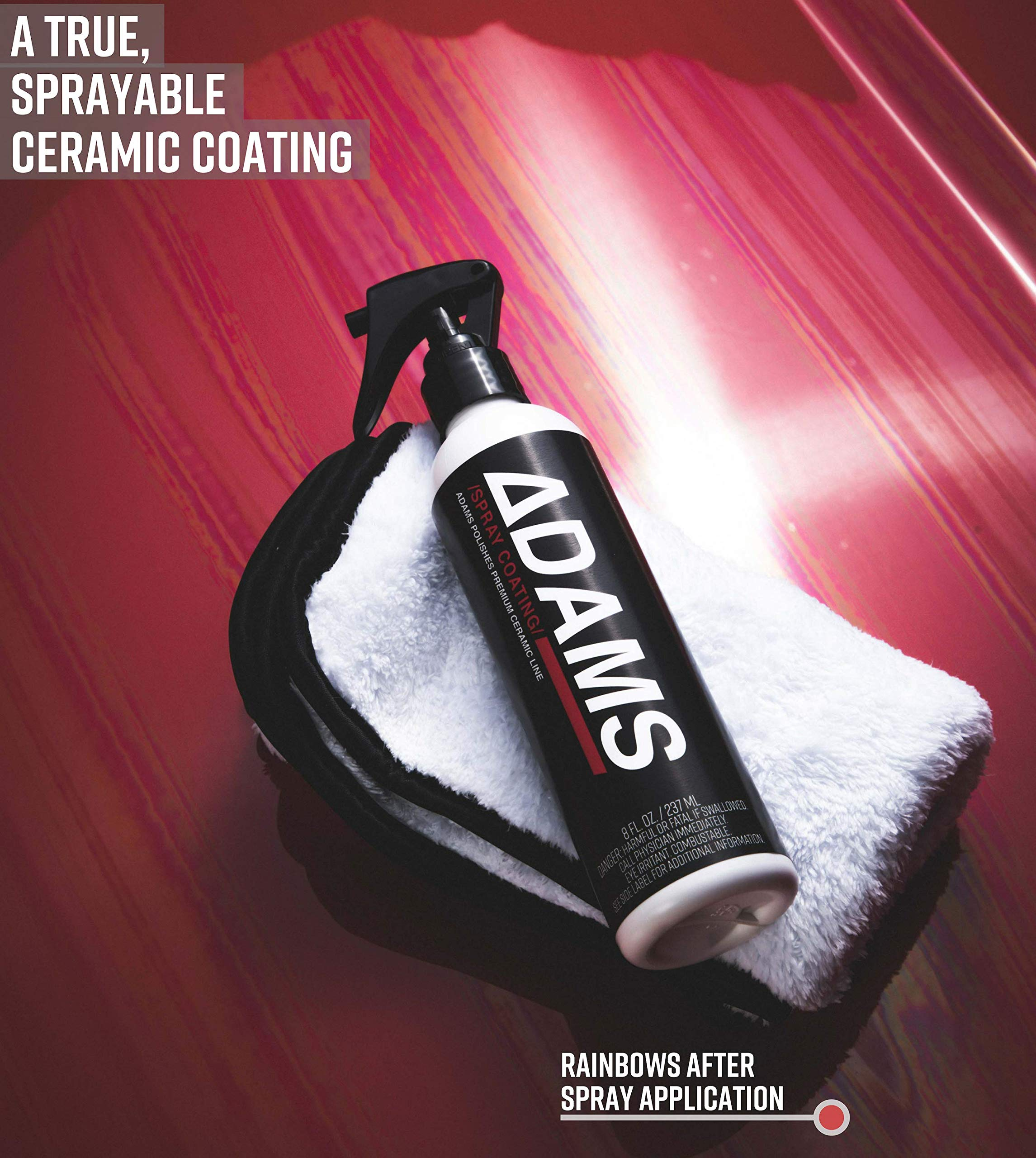 Adam's Ceramic Spray Coating 8 oz Complete Kit - A True Nano Ceramic Protection for Car, Boat & Motorcycle Paint - Top Coat Polish Sealant After Clay Bar, Polishing & Detail Car Wash (Complete Kit) by Adam's Polishes (Image #4)