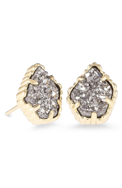 4e1182024 Amazon.com: Kendra Scott Signature Tessa Stone Stud Platinum Drusy/Gold  Earrings: Jewelry