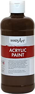 Handy Art Student Acrylic Paint 16 ounce, Burnt Umber