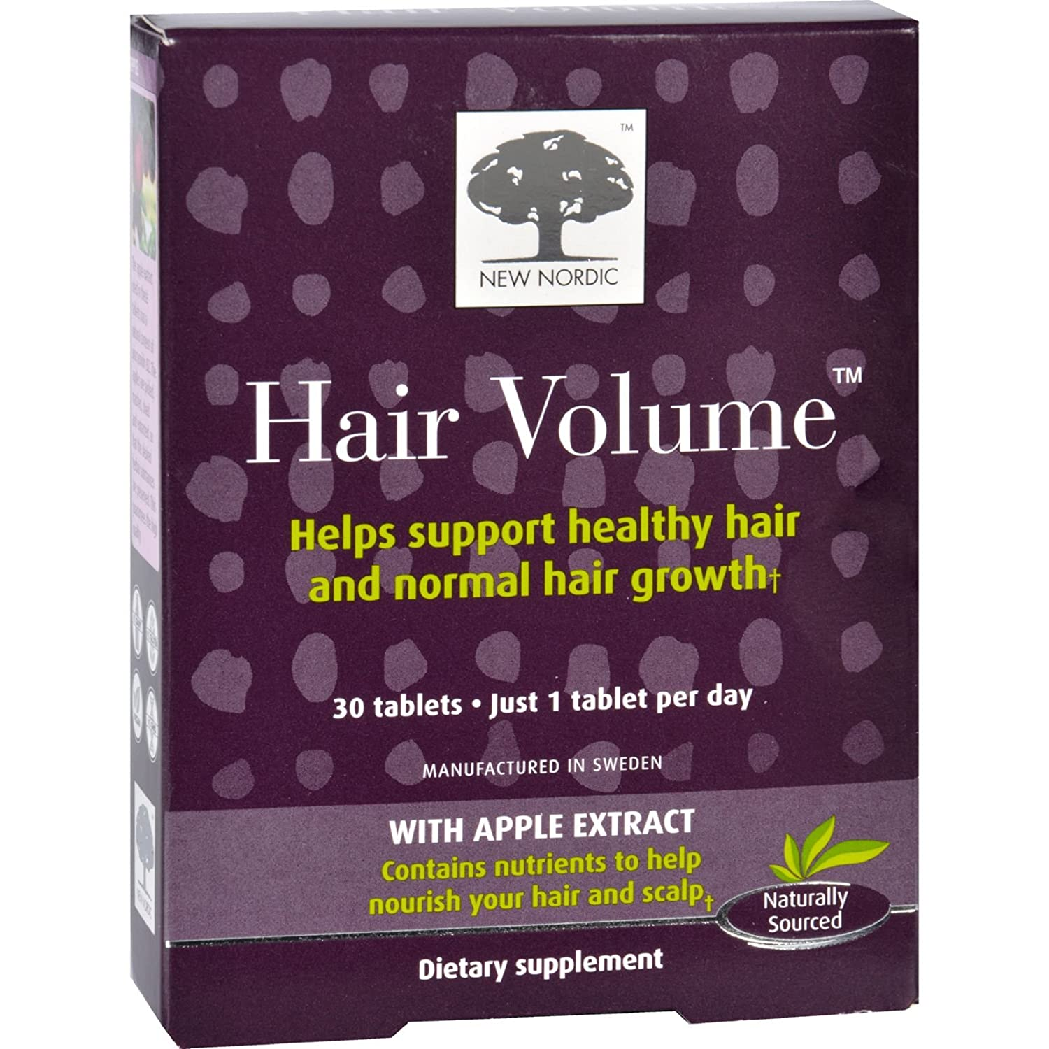 2 Pack of New Nordic Hair Volume, 30 Count