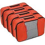 Gonex Packing Cubes Travel Organizer Cubes for Luggage 4xMedium Tangerine
