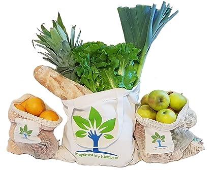 inspiredb ynature Bolsas Reutilizables de Fruta y verdura ...