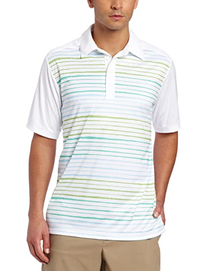 423dbd3b adidas Golf Men's Climacool Gradient Stripe Polo
