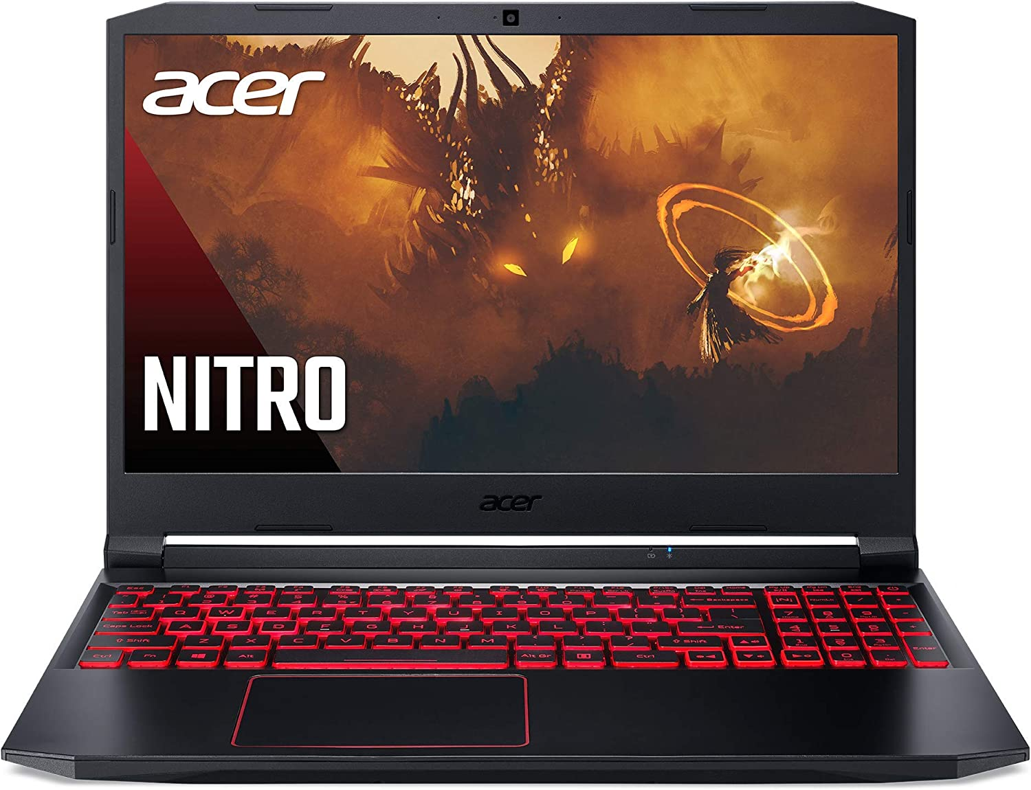 "Acer Nitro 5 Gaming Laptop, AMD Ryzen 5 4600H Hexa-Core Processor, NVIDIA GeForce GTX 1650 Ti, 15.6"" Full HD IPS Display, 8GB DDR4, 256GB NVMe SSD, WiFi 6, DTS X Ultra, Backlit Keyboard, AN515-44-R078"