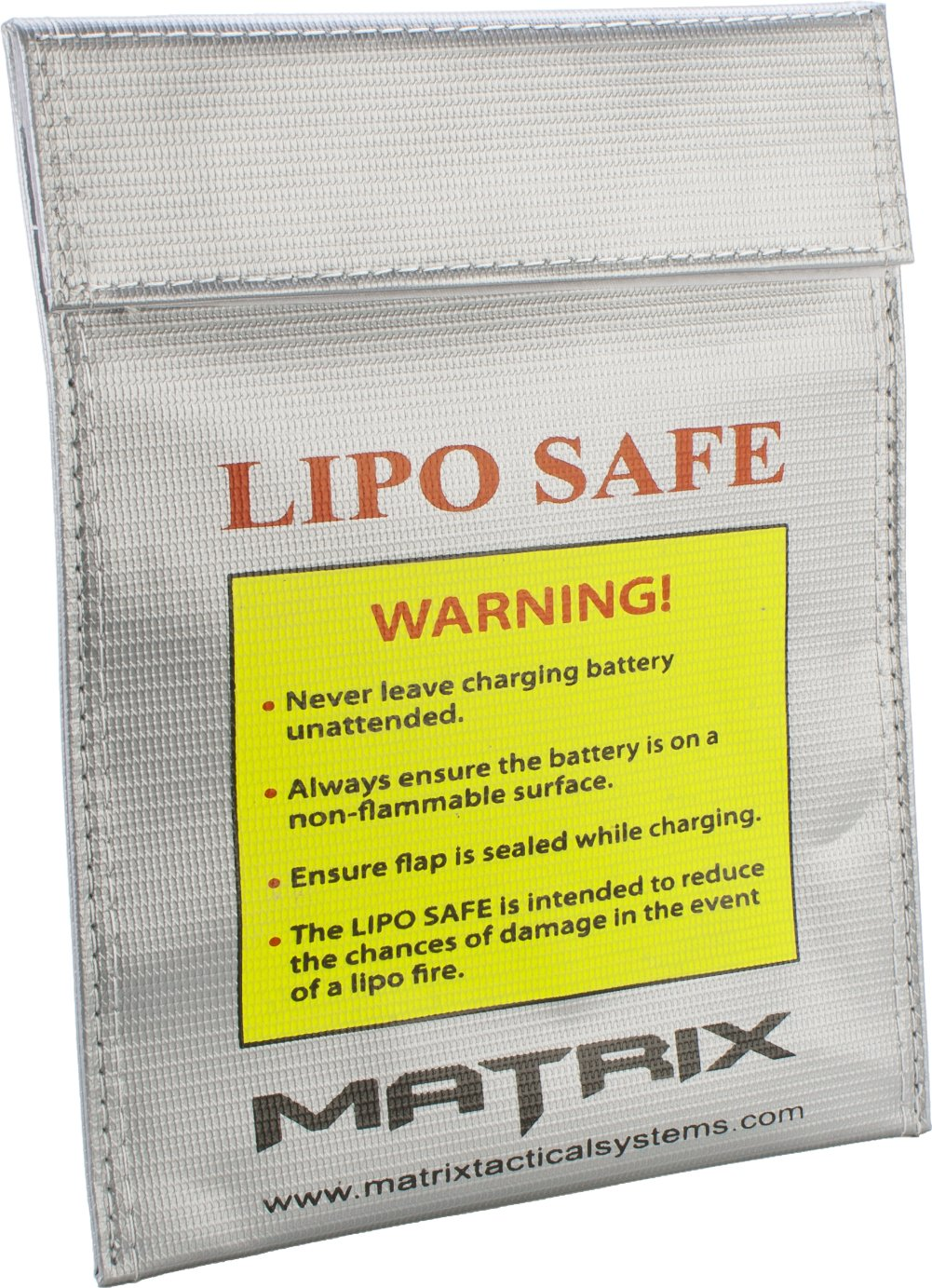 Evike Matrix LIPO SAFE LiPo (Lithium Polymer) Battery Charging Container Bag - 9'' x 7'' (230mm x 180mm)