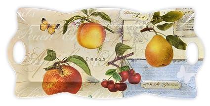 Lashuma Italiano, Rectangular Bandejas melamina con Mango | Impresa Bandejas Rectangular, plástico, Apfelgarten