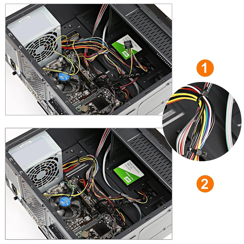 GWHOLE 500 Stk. Kabelbinder Set verschiedene Größen 100/150/180 ...