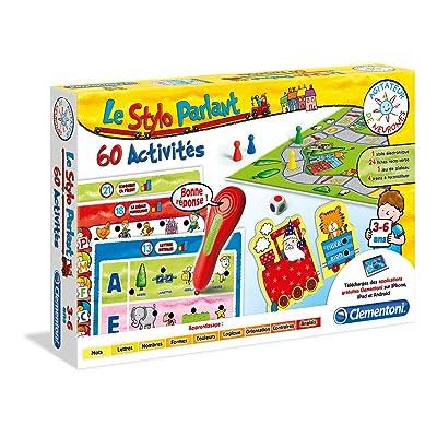 Clementoni 52011-ADN - Mon Stylo parlant - 60 activités-Jeu éducatif
