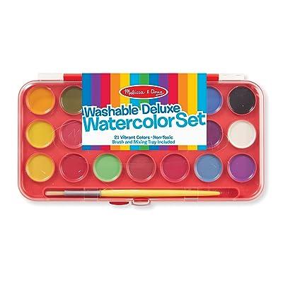 Melissa & Doug Deluxe Watercolor Paint Set (21 colors): Melissa & Doug: Toys & Games