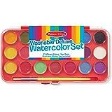 Melissa & Doug 4120 Deluxe Watercolor Paint Set (21 colors),Multi Color