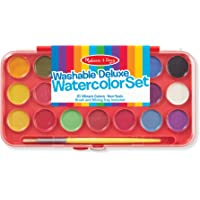 Melissa & Doug Deluxe Watercolor Paint Set with 21 Paints and Paintbrush