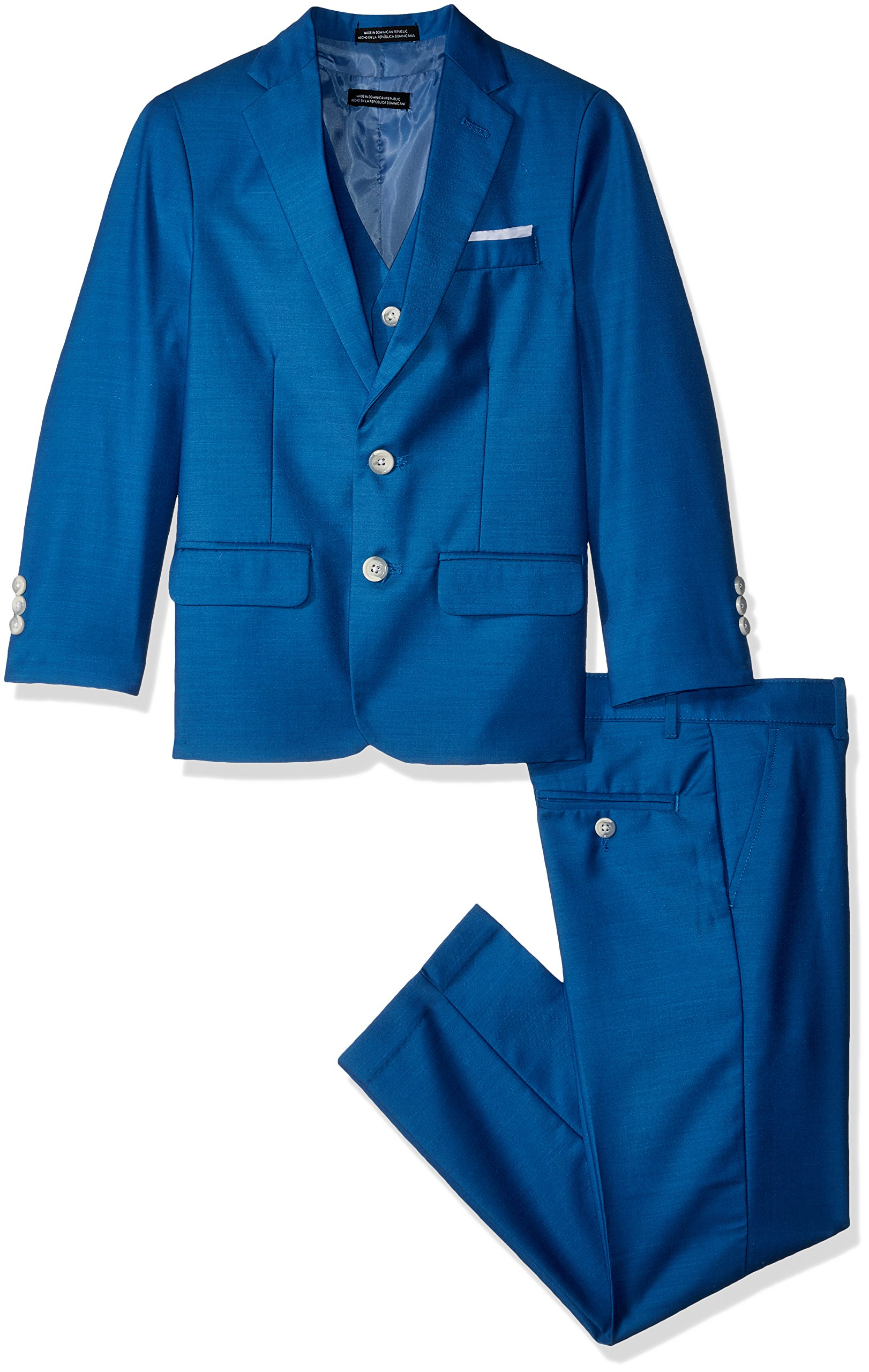 Steve Harvey Boys' Big Three Piece Suit Set, Solar Blue, 18