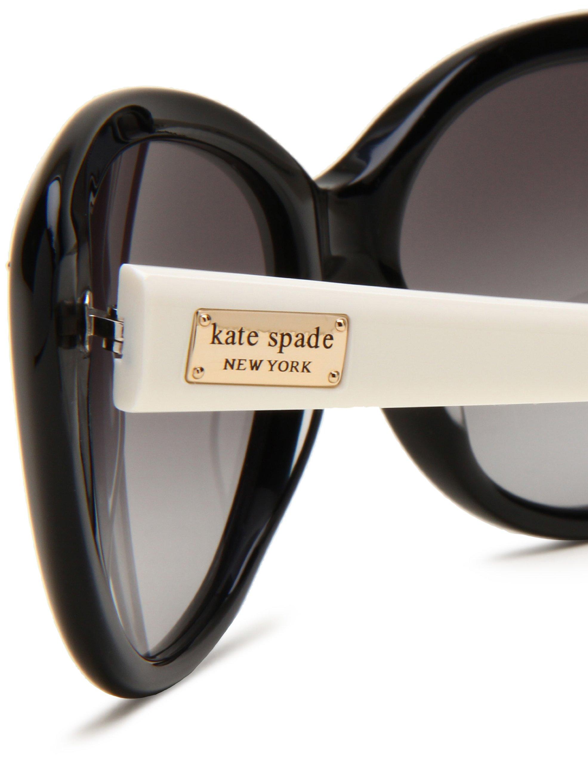 Kate Spade Women's ANGELIQS Cat Eye Sunglasses,Black & Cream Frame/Gray Gradient Lens,One Size by Kate Spade New York (Image #4)