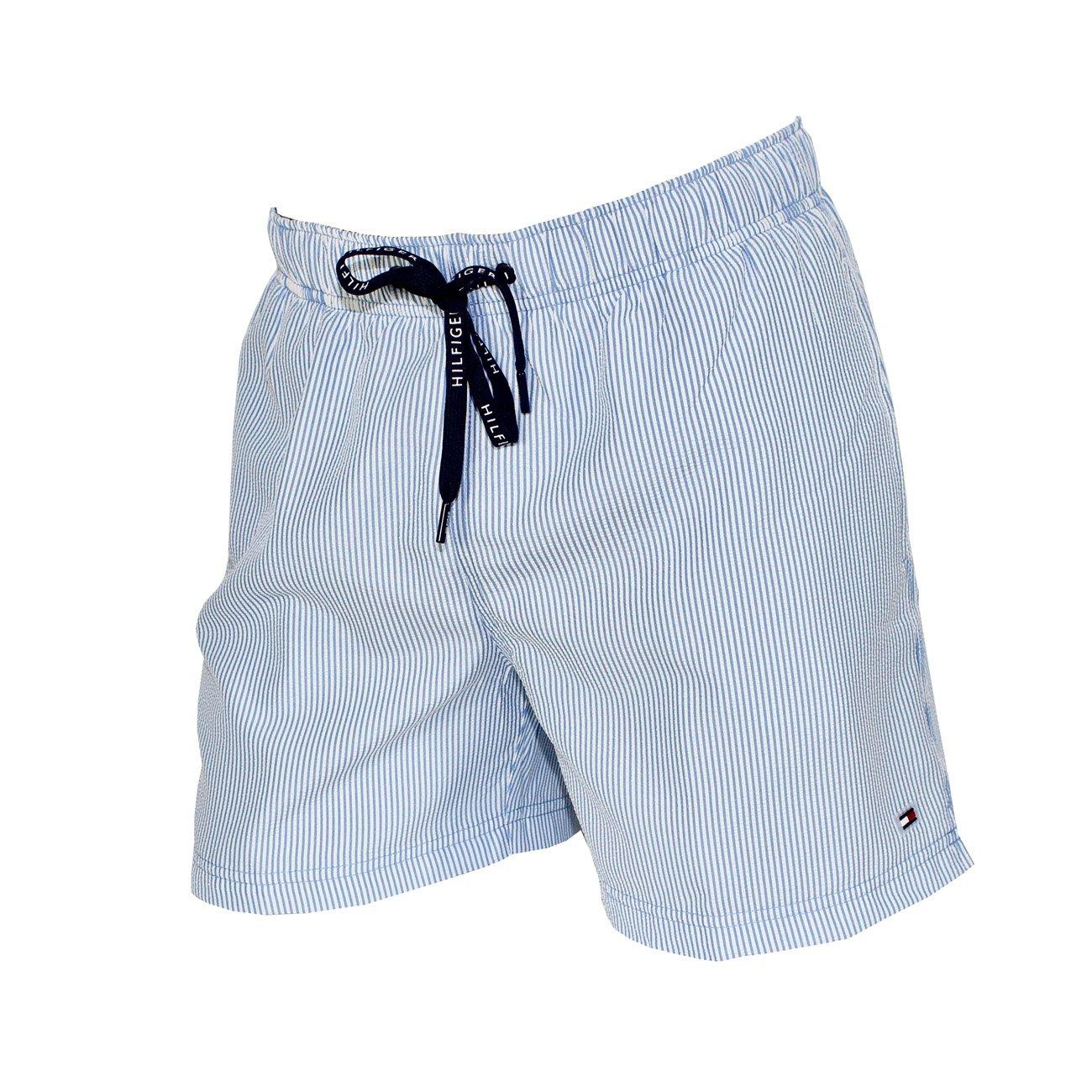 Tommy Hilfiger Costume Boxer Uomo Rigato Bianco/Blu 10492