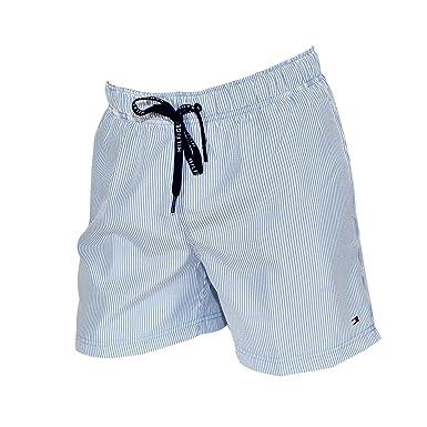 promo code 46b27 0d851 Tommy Hilfiger Costume Boxer Uomo Rigato Bianco/blu: Amazon ...