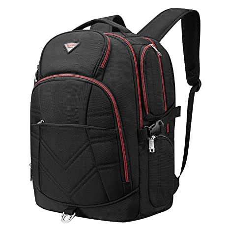 deae1a3130d1 SOCKO Laptop Backpack Water Resistant Travel Backpack for Men Women Durable  Laptop Rucksack Unisex Big Hiking Knapsack Rucksack w/Headphone Hole Fits  ...