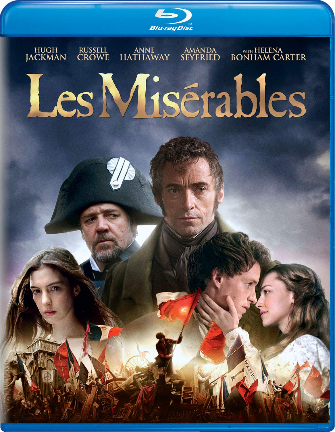 Amazon Com Les Miserables 2012 Blu Ray Hugh Jackman Russell Crowe Anne Hathaway Amanda Seyfried Eddie Redmayne Helena Bonham Carter Sacha Baron Cohen Tom Hooper Tim Bevan Eric Fellner Debra Hayward Cameron Mackintosh William