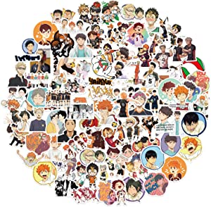 Anime Stickers [102Pack], Waterproof Vinyl Anime Stickers Decals for Laptop, Water Bottle, Bumper, Luggage, Computer, Skateboard, Snowboard, Gift for Kids Girls Teens
