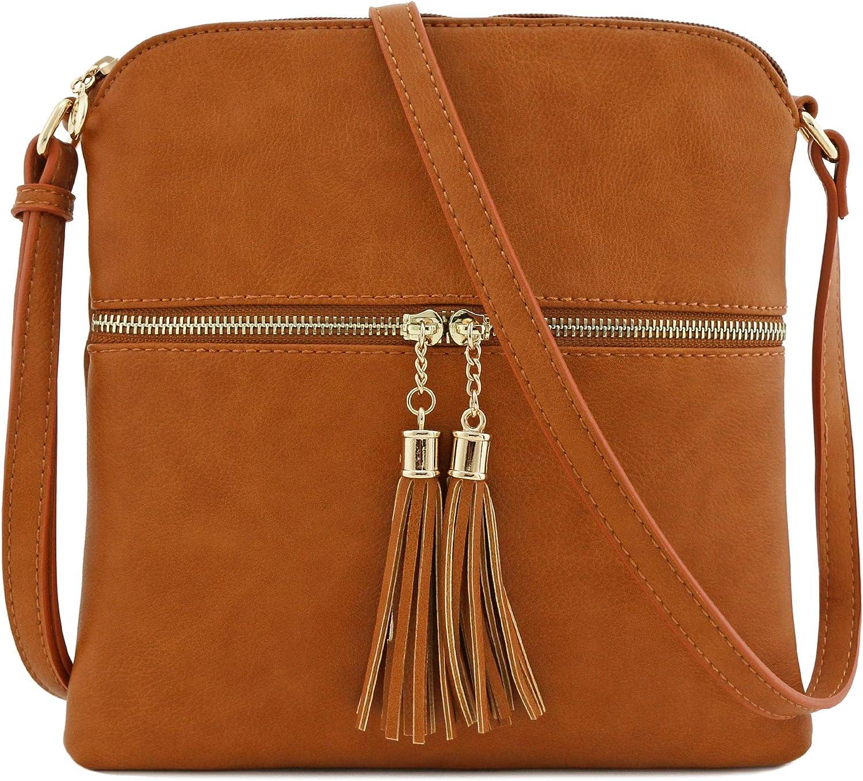 Tassel Zip Pocket Crossbody...