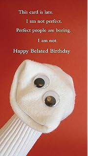 Quiplip Sock Ems SE07 Belated Birthday Perfect Card