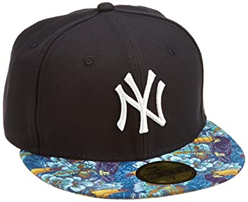 c5268b84ab8 New Era MLB NY Yankees Tropical Toucan 59FIFTY Hat with Visor Adult Baseball  Cap blue navy